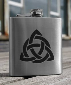 Hip Flask Celtic Interlace 6oz