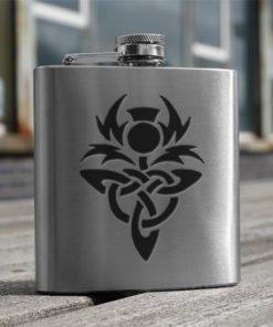 Celtic Thistle 3oz Hip Flask