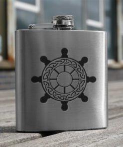 Hip Flask Ships Wheel 6oz