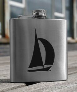 Yacht Hip Flask Stainless Steel 6oz