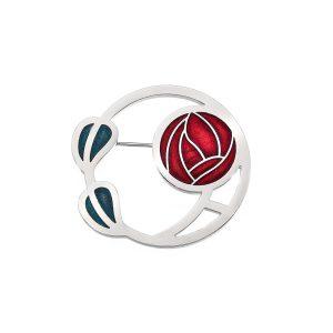 sea gems Mackintosh rose brooch
