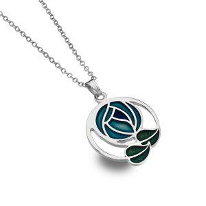 Sea Gems Turquoise Enamelled Mackintosh Pendant
