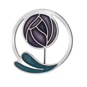 sea gems Purple brooch