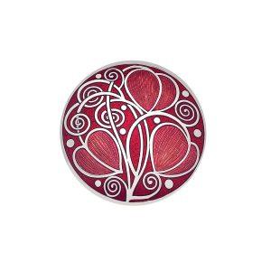 sea gems Red Enamelled brooch