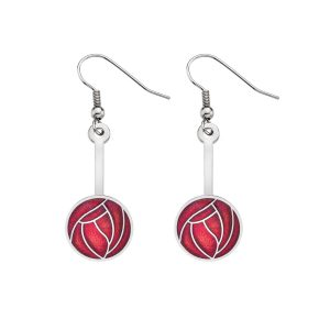 silver plate sea gems earrings