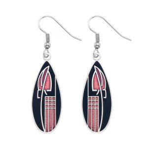 sea gems black earrings