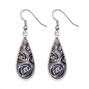Purple Sea gems earring