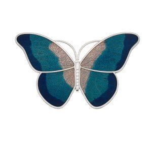 Butterfly Brooch in Turquoise Enamel